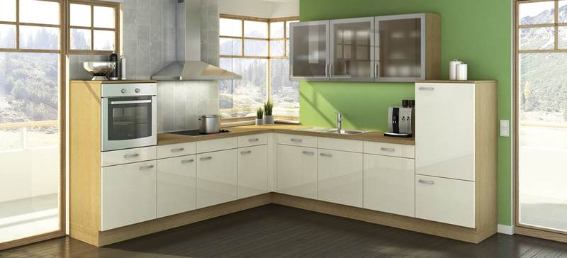 Cocina blanco brillo for Singular kitchen