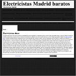 Electricistas Madrid baratos