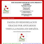 Foundation seed of love project Lazaro