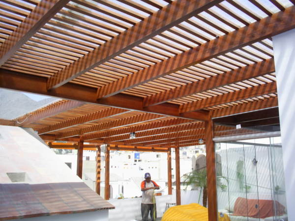 Top disenos de patios y techos wallpapers - Techo de madera ...