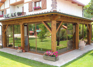 Good Perfect Cerramiento De Porche De Aluminio Lacado En Pino De Correderas  Y Cristal Climalit Mih With De Porches En Aluminio With Porches De Aluminio  Y ...